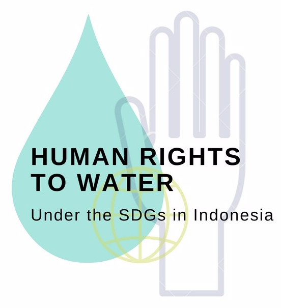 Human rights to water in Indonesia logo