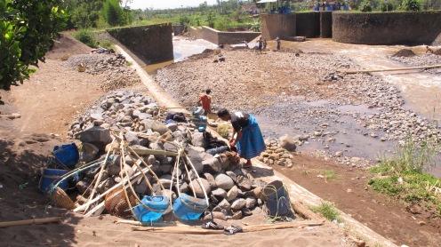 Rock mining, on of main activities in the Upper Citarum River Basin of West Java (photo: Anindrya Nastiti)